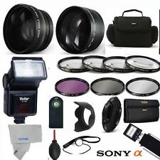PRO FLASH + WIDE ANGLE LENS+  ZOOM LENS  PRO KIT FOR SONY Cyber-shot DSC-HX400V