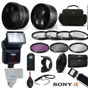 PRO FLASH + WIDE ANGLE LENS+  ZOOM LENS  PRO KIT FOR SONY Cyber-shot DSC-HX400V