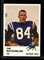1961 FLEER #34 JIM MUTSCHELLER COLTS NM D023093