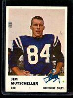 1961 FLEER #34 JIM MUTSCHELLER COLTS NM D023093