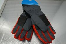New listing Columbia Red Gray Black Gloves Youth Size Lg
