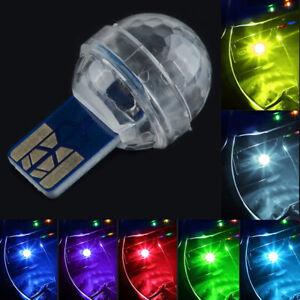 Mini Colorful LED USB Decor Car Interior Light Atmosphere Neon Music Lamp RGB
