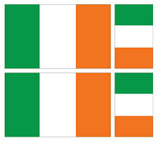 4 X Irlandais République Irlande Flag Vinyle Voiture Van Ipad Laptop Sticker