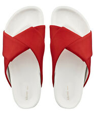 Celine Origami Twist Red White Slide Sandals Sliders Shoes BNIB UK 5 EU 38