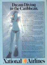 1978 National Airlines PRINT AD Dream Diving in Caribbean
