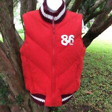 "Victoria's Secret Womens Vest ""86"" True Pink Love Dog Size XS/S Red Zippered"