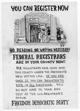 Old Print. Mississippi. Civil Rights - Voting