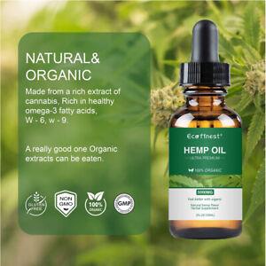 100% Best Natural Organic Hemp Oil for Relief Anxiety,Stress Sleep 1000mg/5000mg