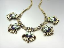 EXQUISITE Urban Anthropologie Bejeweled Smoky Citrine Multi Crystals Necklace