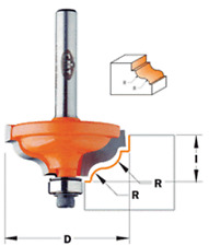 """CMT 3/16 - 9/64"""" Ogee with Fillet Router Bit (Series 847) 1/2"""" shank 847.825.11"""