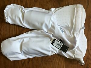 White Adidas mens football pants with pads