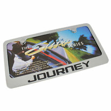 Dodge Journey Chrome Brass License Plate Frame