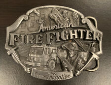 Arroyo Grande Belt Buckle American Fire Fighter 1989 Commemorative Limited
