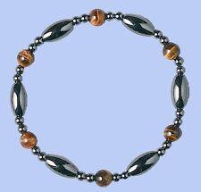 SALE! Pearl Black Hematite Tiger Eye Bead Bracelet Therapy Arthritis Fashion