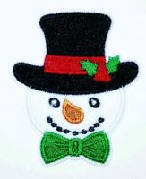 1PC~CHRISTMAS SNOWMAN WITH SCARF~IRON ON APPLIQUE