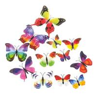 Butterfly Curtain Pin Decor Home Sticker Clip Bedroom Art Wall Decal Room 12Pcs