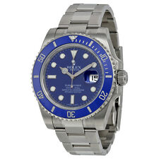 Rolex Submariner Date Blue Dial 18K White Gold Rolex Oyster Automatic Mens