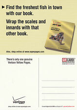 VERIZON YELLOW PAGES UNUSED ADVERTISING COLOUR  POSTCARD (c)