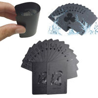 Waterproof Diamond Black Plastic PET Poker Magic Table Board Game Playing Cards