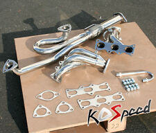 2.5 KL-DE STAINLESS STEEL HEADER+DOWNPIPE EXHAUST 93-97 FORD PROBE/MAZDA MX6 V6