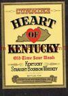 1940s Kentucky Louisville HEART OF KENTUCKY Straight Bourbon Whiskey Label