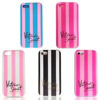 Case Victoria's Secret Rosa Rayas Silicone Carcasa Funda Para iPhone 6 7 8 Plus