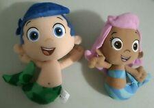 "Lot of 2 Nick Jr BUBBLE GUPPIES 8"" 10"" Stuffed Plush MOLLY GIL Mermaid DOLL 2012"