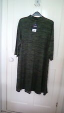 BNWT -  Yours Clothing - green Marl turtleneck dress, size 18, RRP £26.99