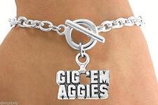 "Western Style Texas A&M ""Gig 'em Aggies""  Charm & Bracelet (12801)"