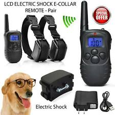 330 Yards Dog Shock Training Collar Rechargeable Remote Control Waterproof IP67