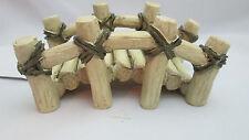 New listing Fairy Garden Miniature Resin Log Bridge - Off White