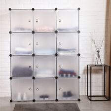 12 Doors Kleiderschrank Regalsystem DIY Schrank Steckregal Kunststoff Garderobe