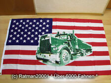 Fahne Flagge USA mit Truck. - 90 x 150 cm