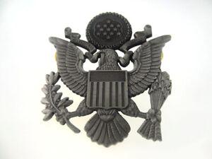 WWII US AIR FORCE CAP BADGE PIN METAL USAF HAT BADGE GREY