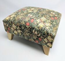 Footstool pouffe William Morris Golden Lily Minor light wood feet