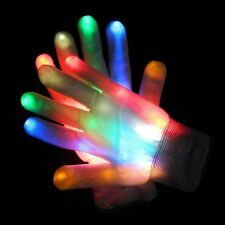 LED Flashing Gloves Colorful Finger Light Christmas Halloween Party Decoration