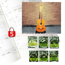 Set 6x Corde per Chitarra Classica Ricambi #1 #2 #3 #4 #5 #6 Nylon Offerta 5m9e