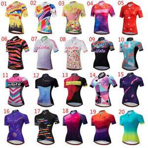 Miloto Ladies Cycling Jersey Shirt Women's Bike Cycle Jersey Top Short Sleeve