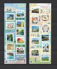 JAPAN 2018 Mini S/S x 2 My Journey Travel  Series No 4 stamp Sticker