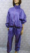 VTG 80s Brooks Windbreaker Suit Track Suit Womens SZ M Purple Mauve Zip Front