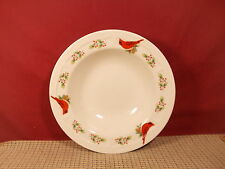 """Gibson China Winter Birds Pattern Rimmed Soup Bowl 8 5/8"""""""