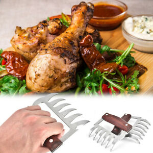 2Pcs Meat Claws Chicken Beef Pulled Pork Shredder Claws BBQ Meat Shredder Tools