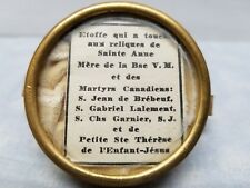 Vtg Great Kiss Relic St Anne Therese Jean de Brebeuf North American Martyrs