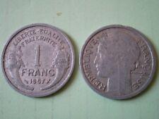 PIECE DE 1 FRANC 1957  MORLON en  ALUMINIUM