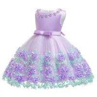 Bridesmaid dresses formal party flower princess wedding tutu dress girl baby kid