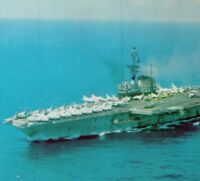 USS Coral Sea CVA-43 San Franciscos Own naval aircraft carrier Vintage Postcard