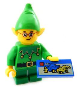 NEW LEGO CHRISTMAS ELF w/LEGO CITY SET santa claus minifig minifigure club house