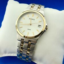 Seiko Mens Two Toned Stainless Steel 7N42-0EW0 Classic Casual Formal Watch