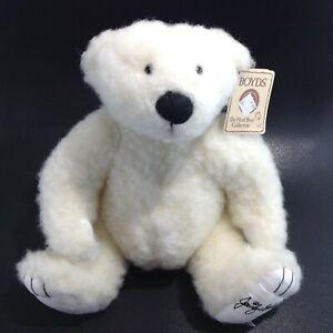 "BOYD'S Plush Polar Bear ""GEORGE JOSEPH"" Signature Bear By JENNIFER BUCKLEY"