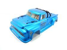 NEW ARRMA NOTORIOUS 6S BLX FACTORY PAINTED BLUE BODY SHELL OUTCAST w/ ROLL BAR